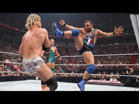 Santino Marella vs. Dolph Ziggler vs. Jack Swagger - Raw, April 2, 2012