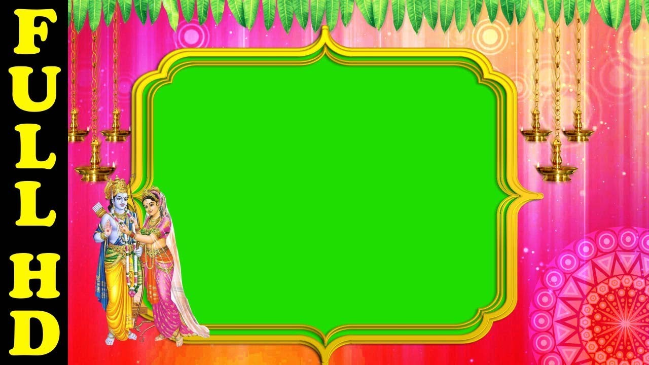 Sri Rama Navami photo frames new | frame Green Screen effect ...