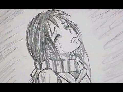 ᴴᴰ Draw Sad Cry Girl Emotion Character Youtube