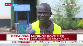 BREAKING NEWS: Masingu Boys dormitory on fire after reopening two days ago