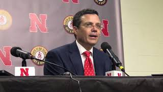 Nebraska basketball coach Tim Miles discusses the 72-52 win over Mi...