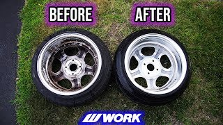 Cleaning REALLY DIRTY Wheels. Satisfying!