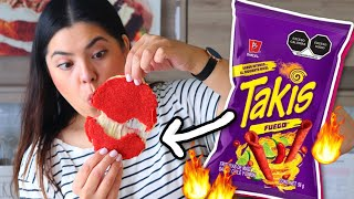 Tortillas de TAKIS FUEGO!! *2 INGREDIENTES* | RebeO