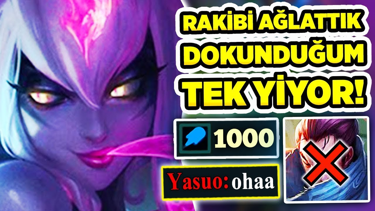 TEK KOMBOYLA YASUO'YU YOK ETTİM!! 1000 AP & 43 KILL EVELYNN JUNGLE OYNANIŞ!!!