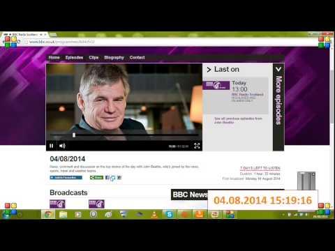 Extract from BBC Scotland - John Beattie Show 04-08-2014