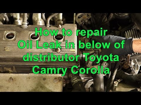 How to repair Oil Leak in below of distributor Toyota Camry Corolla years 1992 to 2002