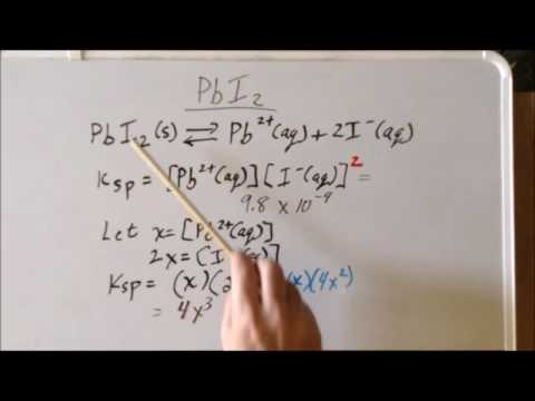 Solubility Product Kₛₚ Problem: PbI₂ (AX₂)