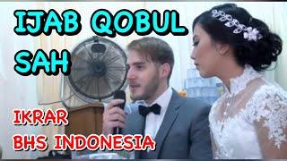 BULE AKAD NIKAH & BERIKRAR BHS INDONESIA LANCAR-Marriage Solemnization