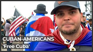 Cuba protests: Miami residents rally for a 'Free Cuba'