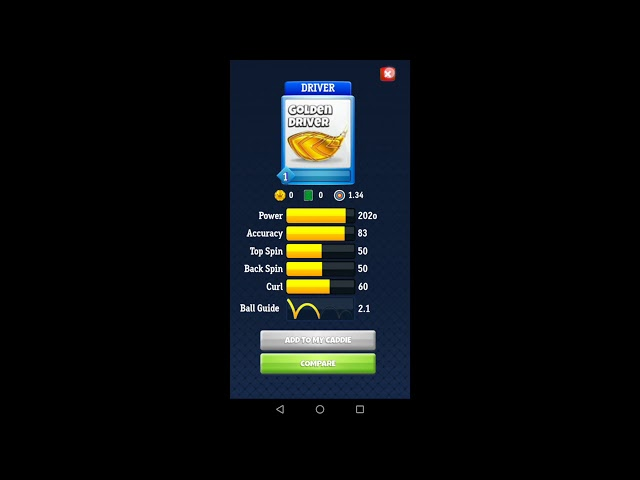 Guide for Golf Clash: how to manage your caddies ?