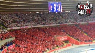 Mazurek Dąbrowskiego na Stadionie Śląskim przed meczem Polska - Portugalia (11.10.2018 r.)