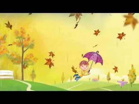 Детский осенний фоновый футаж.HD .1080p