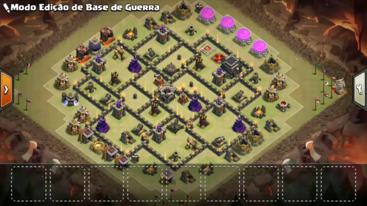 O MELHOR LAYOUT DE GUERRA TH9/CV9 ANTI PT 2016 CLASH OF