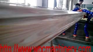 Wpc Stair Railing Profile Machine