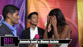 Manny Jacinto & Jameela Jamil At the 2016 NBC Universal Summer Press Tour