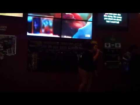 Winning her karaoke fanboys over with Titanium