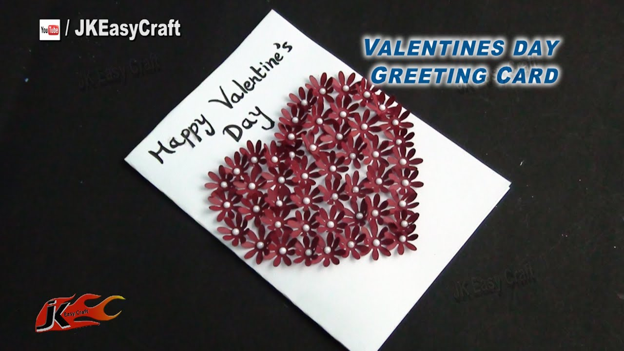 DIY Easy Valentines Day Punch Craft Greeting Card  How to make