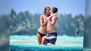 Leonardo DiCaprio et sa petite-amie mannequin Toni Garrn à Bora Bora