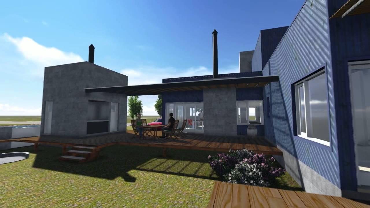 Vivienda con revestimiento de chapa youtube for Casas de chapa para jardin