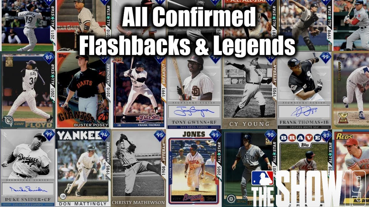 All Confirmed Flashback Cards And Legends In Mlb The Show 19 Diamond Dynasty
