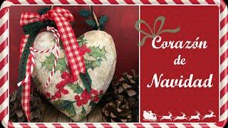 Cómo hacer un Corazón de Navidad. Manualidades para Navidad. El Décimo de Navidad Episodio 4