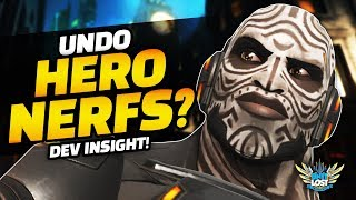 Overwatch - Undo Hero Balance Nerfs? Dev's Give Balance Insight!