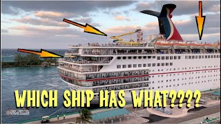 Compare the Cruise Ships! Carnival Victory/Sunrise/Sensation