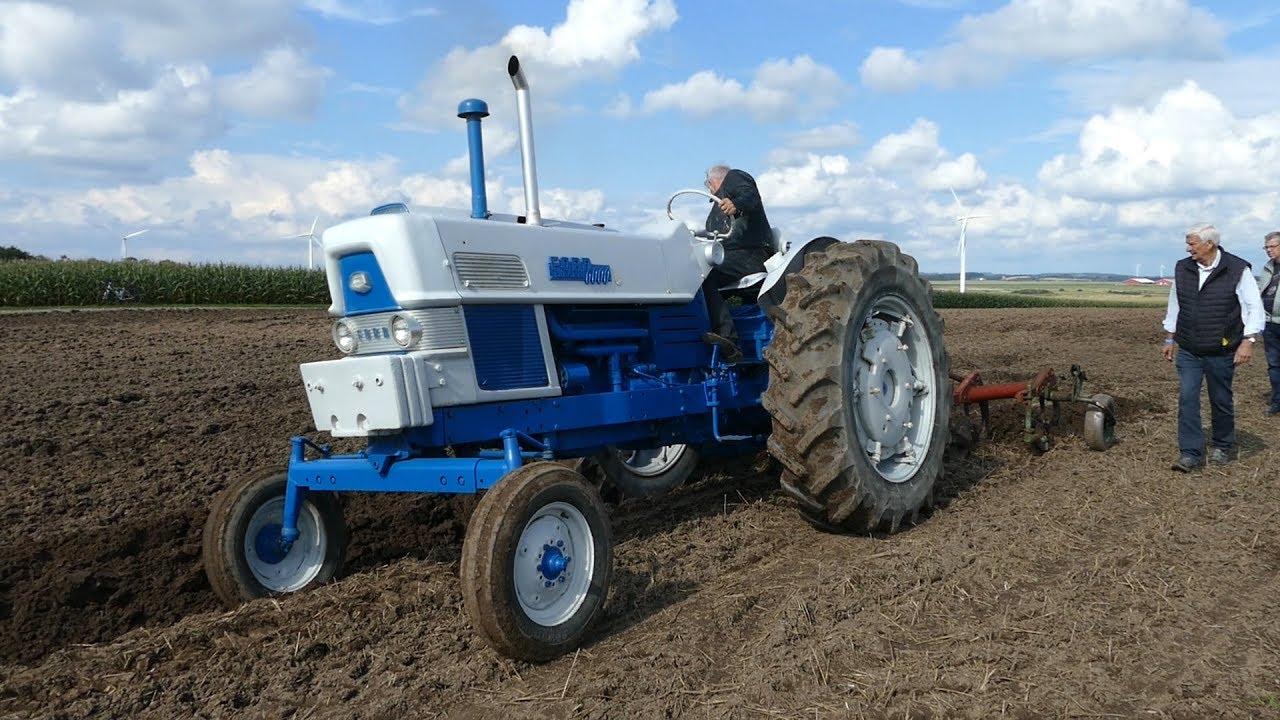 Ford 6000 Diesel Ploughing W/ 4-Furrow Kverneland Plough