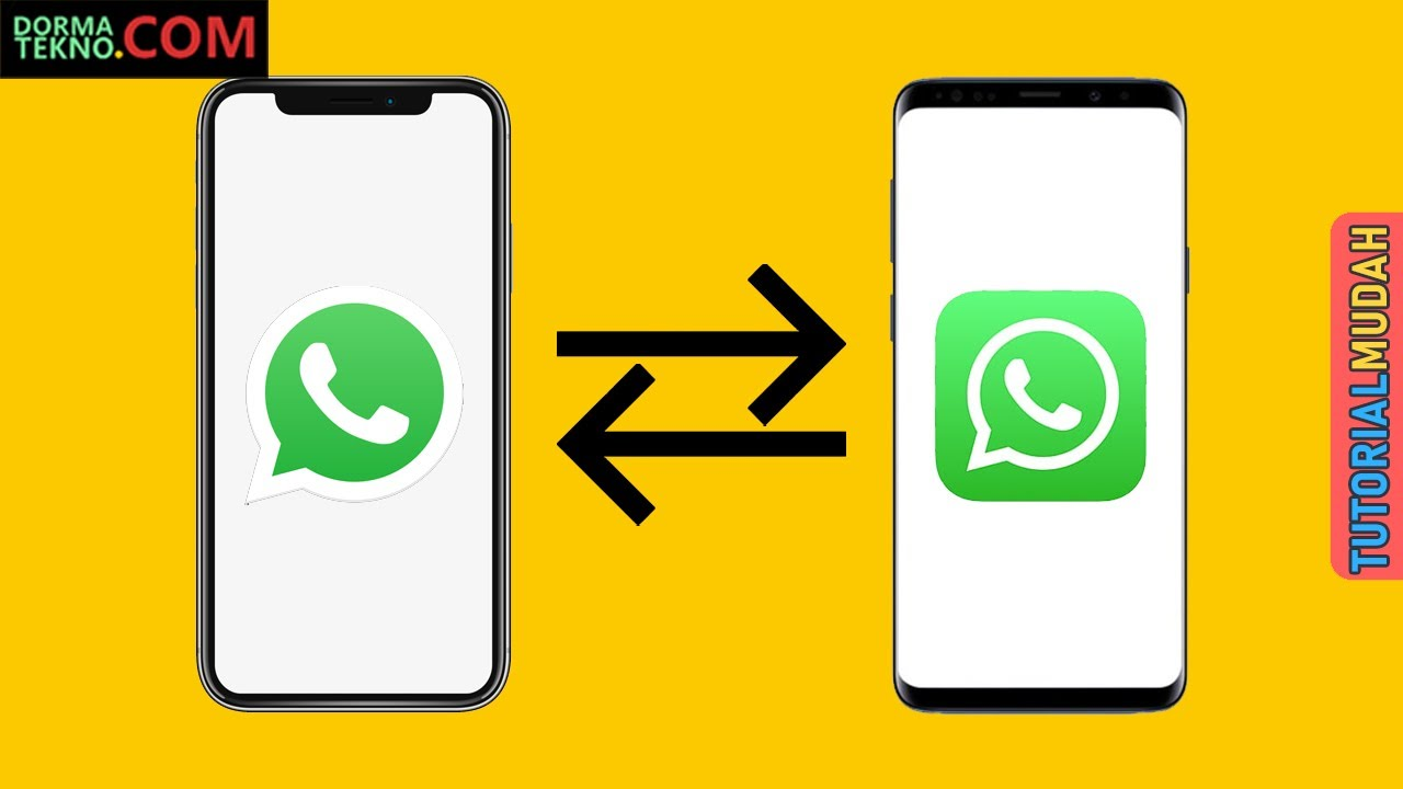 Transfer Chat Whatsapp iPhone iOS ke Android  Tutorial Cara Mudah  Memindahkan Backup WA History