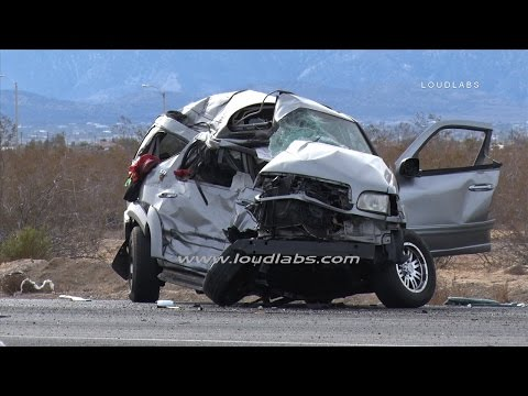 Hwy 395 Multi Fatal Crash / Victorville  RAW FOOTAGE