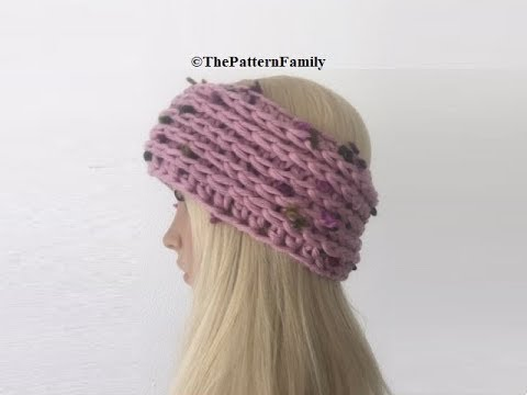 How to Crochet Camel Stitch Earwarmers / Headband Pattern #490│by ...