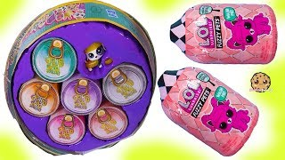 Giant Can of Pet Food Blind Bags ! Littlest Pet Shop + Fuzzy LOL Surprise Pets