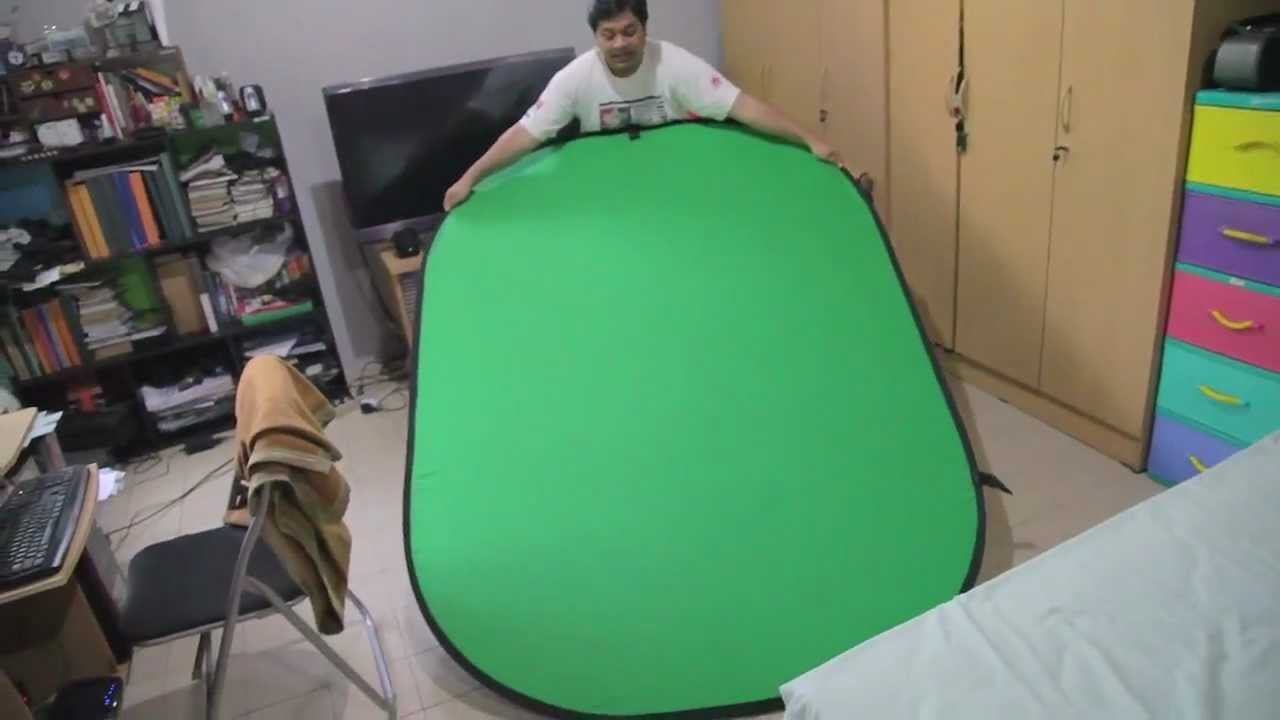 Great HOW To Fold Portable Green Screen/Blue Screen   YouTube