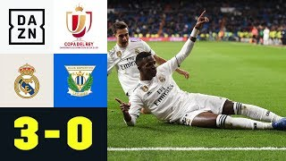 Sergio Ramos und Vinicius treffen: Real Madrid - Leganes 3:0 | Highlights | Copa del Rey | DAZN