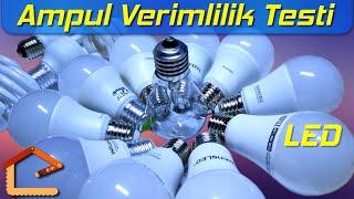 Ampuller Arası Verimlilik ve Işık Karşılaştırması (Akkor - Tasarruflu - LED) #38