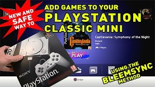 UPDATED AND SAFE Way to add games to your Playstation Classic Mini - Bleemsync PS1 Mini Hack #2