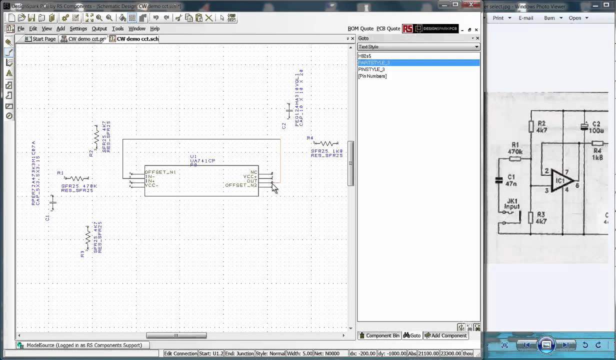 Pcb Quote Designspark Pcb First Steps Sch To Pcb  Youtube