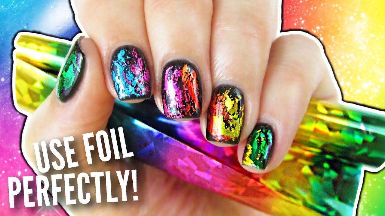 Foil Your Nails Perfectly! - YouTube
