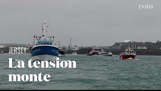 A Jersey, les bateaux français protestent contre les conditions de pêche post Brexit