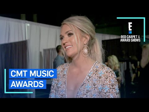 Carrie Underwood Reacts to  of the Year Win  E Red Carpet & Award Shows