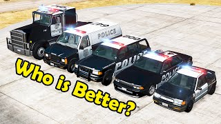 Police Cars Championship #1   Who is better?  Beamng drive