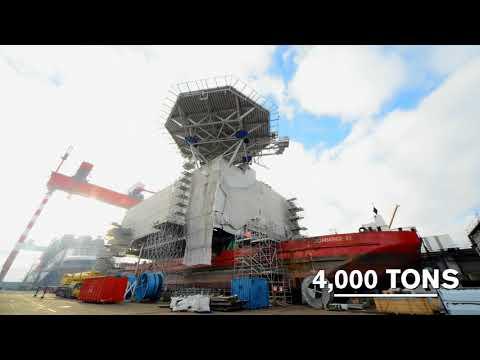Film de la construction de la sous-station P34 (Arkona) par STX France