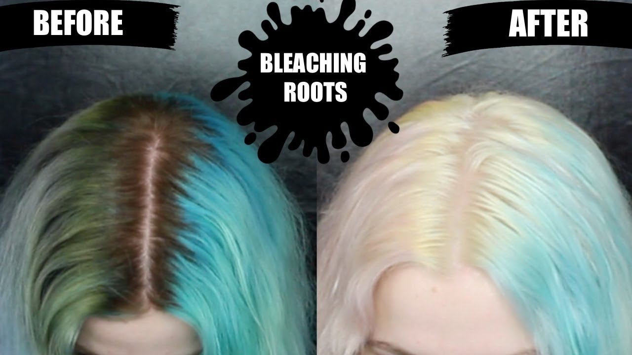 Bleach Bath To Remove Color Bleaching Roots Youtube