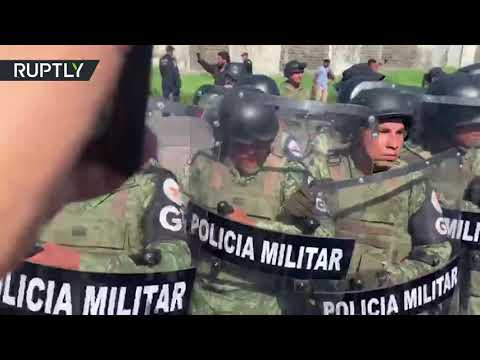 African Migrants Traveling North Clash With Mexican Military Police In Tapachula