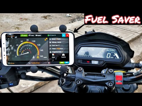 """Modified and installed a fuel saver app on my bike