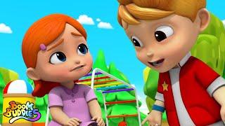 Boo Boo canción | Rimas para niños | Boom Buddies Español | Educación | Dibujos animados