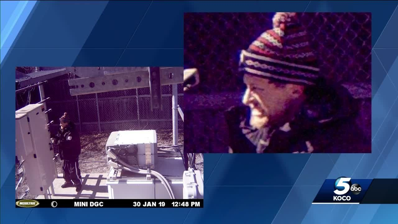 Police search for man caught on camera stealing cable from cell phone tower
