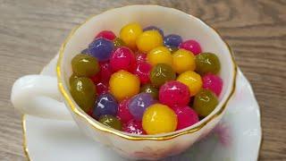 Cách làm trân châu nhiều màu sắc từ hoa quả tươi và nguyên liệu tự nhiên thật hấp dẫn