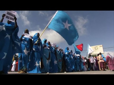 Somalia: Protest in Mogadishu over Kenya border spat