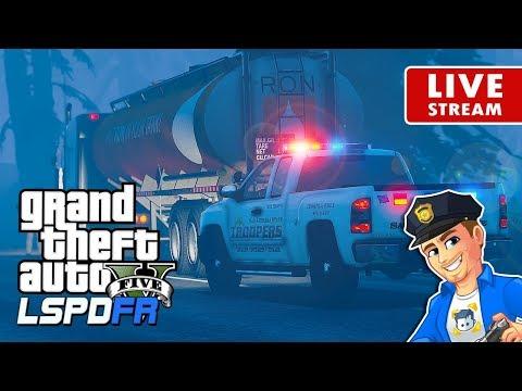 GTA 5 LSPDFR HIGHWAY PATROL LIVE Foggy Night | GTA 5 LSPDFR Police Mod Realistic Police Patrol